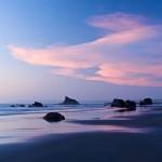 After sunset on Bandon Beach, Oregon